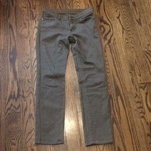 Uniqlo stretch straight leg low rise jeans